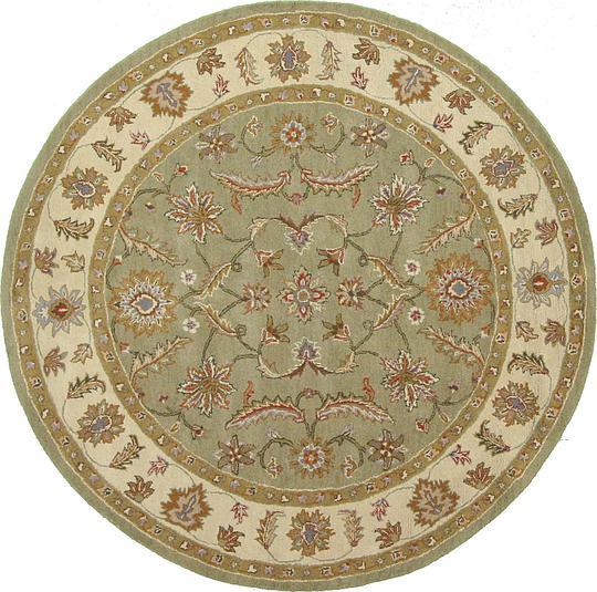 Green 9' 10 X 9' 10 Classic Agra Round Rug