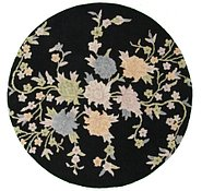 Link to 4' 11 x 4' 11 Floral Agra Round Rug