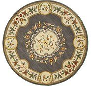 Link to 6' 5 x 6' 5 Classic Aubusson Round Rug