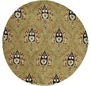 Link to 6' 6 x 6' 6 Floral Agra Round Rug