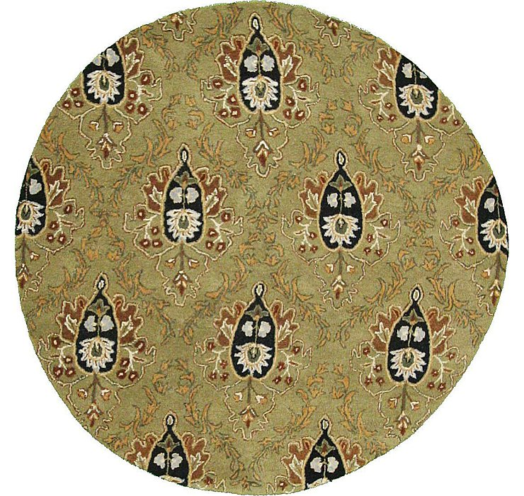 6' 6 x 6' 6 Floral Agra Round Rug