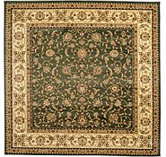 Link to 9' 10 x 9' 10 Mashad Design Square Rug