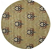 Link to 12' x 12' Floral Agra Round Rug