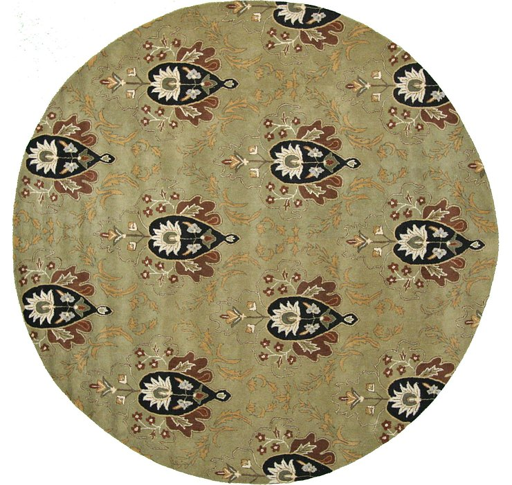 12' x 12' Floral Agra Round Rug