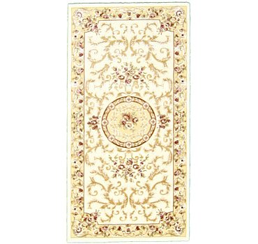 79x150 Carved Aubusson Rug