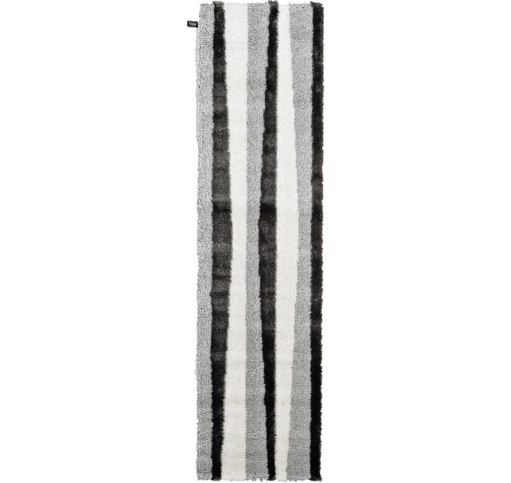80cm x 300cm Abstract Shag Runner Rug