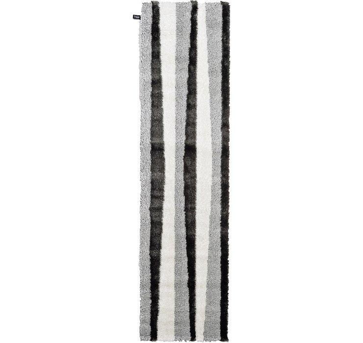 2' 7 x 9' 10 Mod Shag Runner Rug