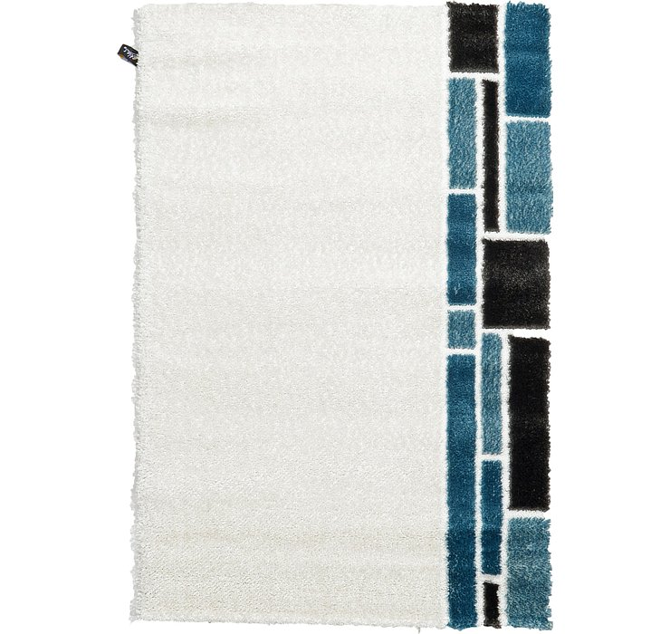 4' x 6' Abstract Shag Rug