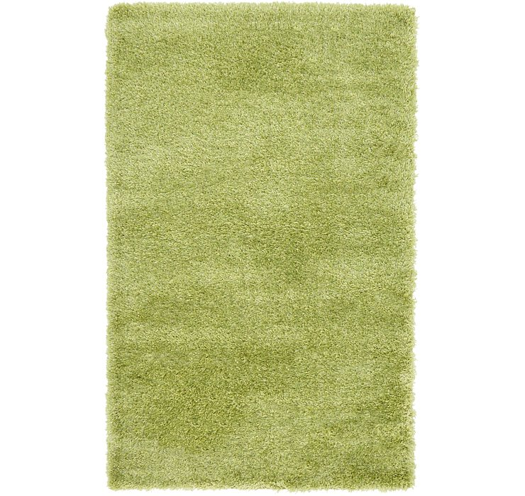 3' 3 x 5' 3 Luxury Solid Shag Rug