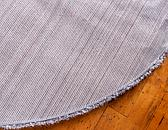 8' x 8' Luxe Solid Shag Round Rug thumbnail image 4