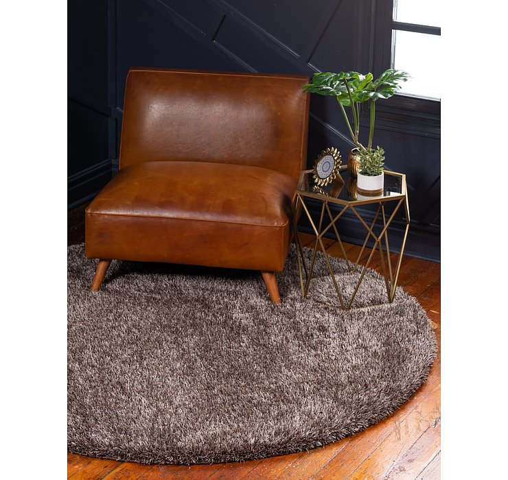 Pinecone Brown Luxury Solid Shag Round...