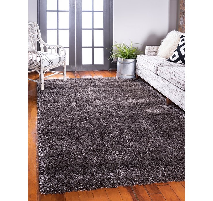 Pinecone Brown Luxury Solid Shag Rug