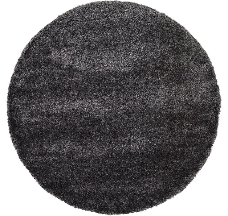 8' x 8' Luxe Solid Shag Round Rug