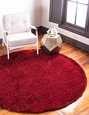 8' x 8' Luxe Solid Shag Round Rug thumbnail image 1