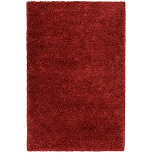 5×8 Red Solid Frieze  Rugs