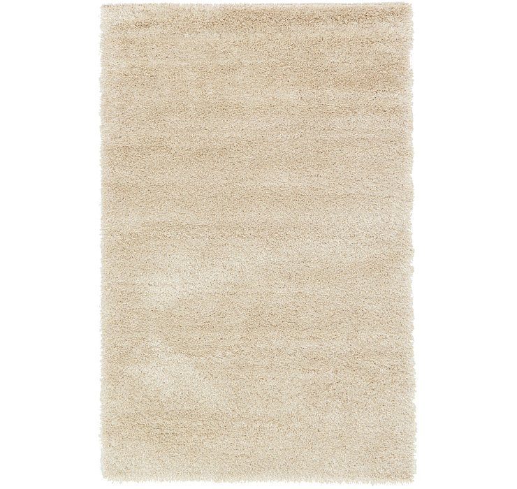 Ivory Luxury Solid Shag Rug