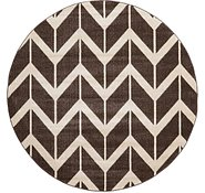 Link to 6' x 6' Chevron Round Rug