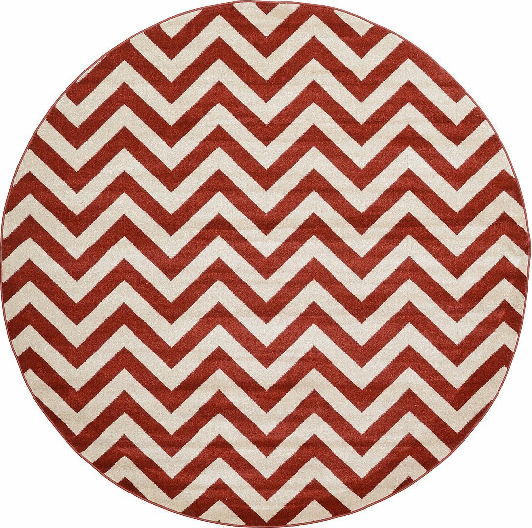 rust red ' x ' chevron round rug  area rugs  esalerugs -