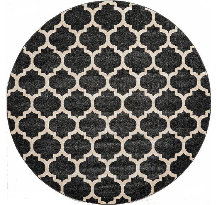 Black Lattice Round Rug