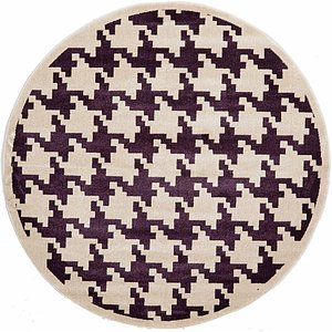 Link to 185cm x 185cm Houndstooth Round Rug page