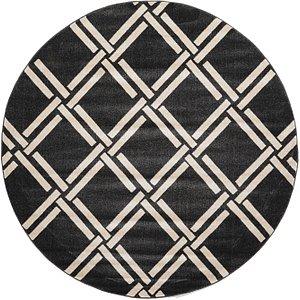 Unique Loom 8' x 8' Trellis Round Rug