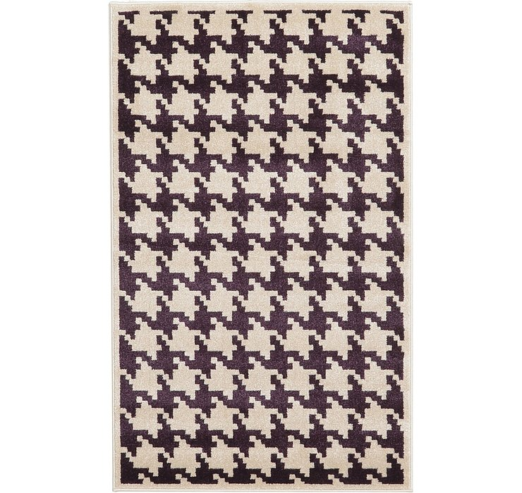 3' 3 x 5' 3 Houndstooth Rug