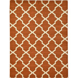 10x13 Orange Trellis  Rugs