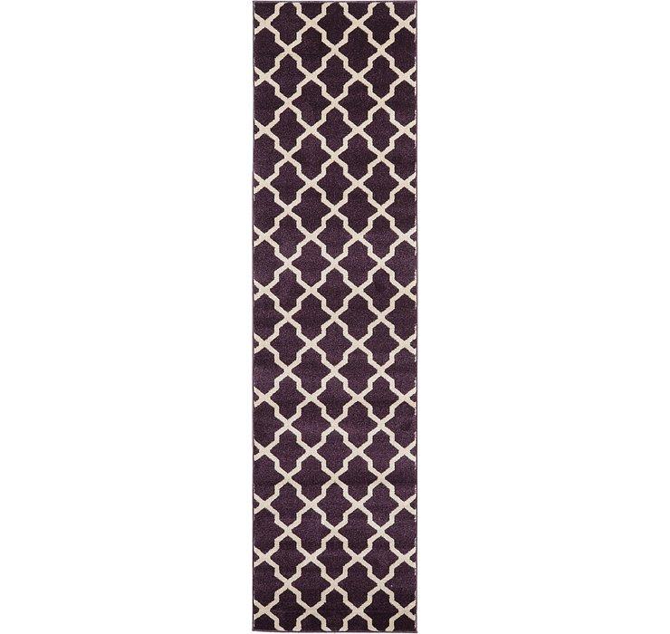 Dark Violet Lattice Runner Rug