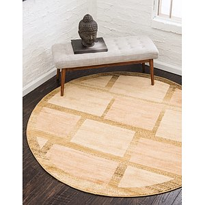 Unique Loom 8' x 8' Fars Round Rug