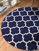 8' x 8' Lattice Round Rug thumbnail image 1
