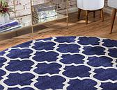 8' x 8' Lattice Round Rug thumbnail image 3