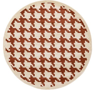244x244 Houndstooth Rug