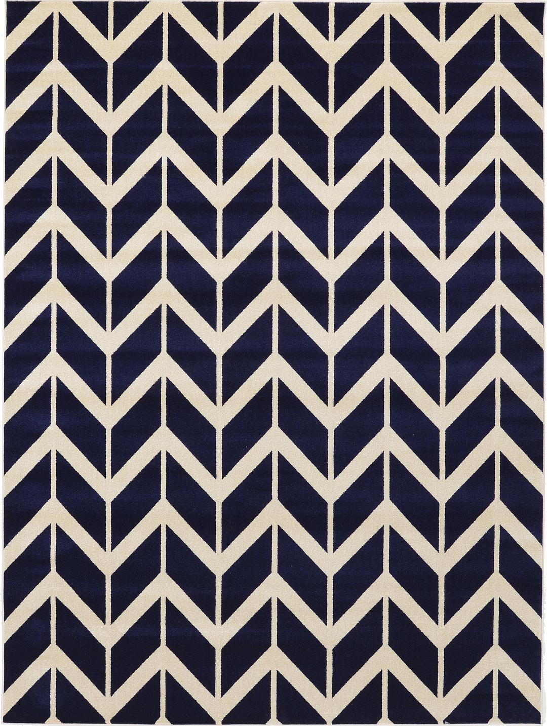 Well-liked Navy Blue 9' x 12' Chevron Rug | Area Rugs | eSaleRugs RV48
