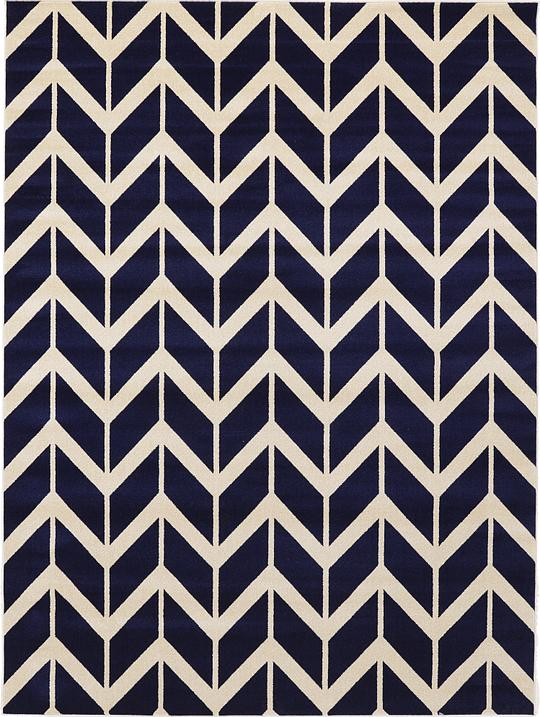 Unique Navy Blue 9' x 12' Chevron Rug | Area Rugs | eSaleRugs HM56