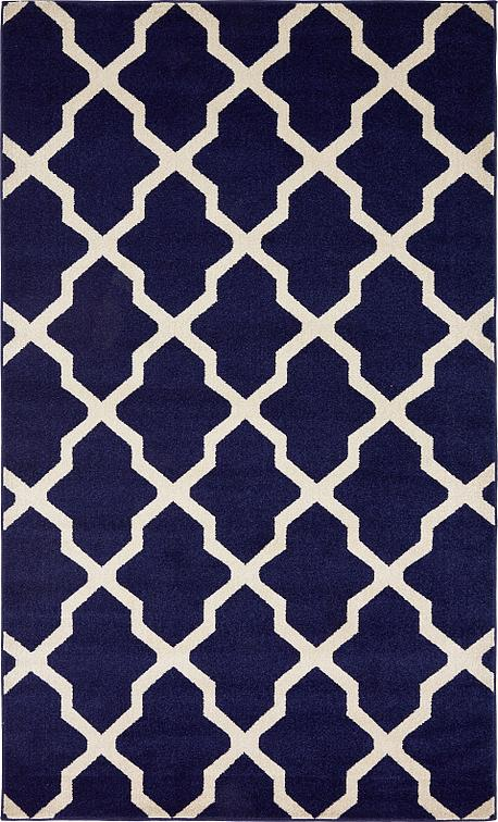 Navy Blue 5 X 8 Trellis Rug Area Rugs Irugs Uk