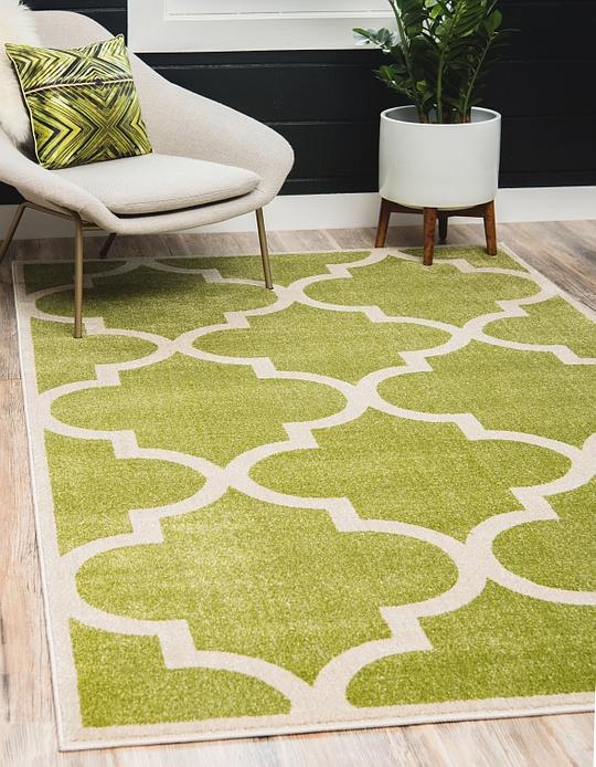 green 9 39 x 12 39 trellis rug area rugs esalerugs. Black Bedroom Furniture Sets. Home Design Ideas