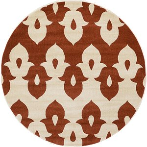 Link to 185cm x 185cm Ikat Round Rug page