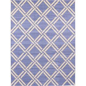 10x13 Blue Trellis  Rugs