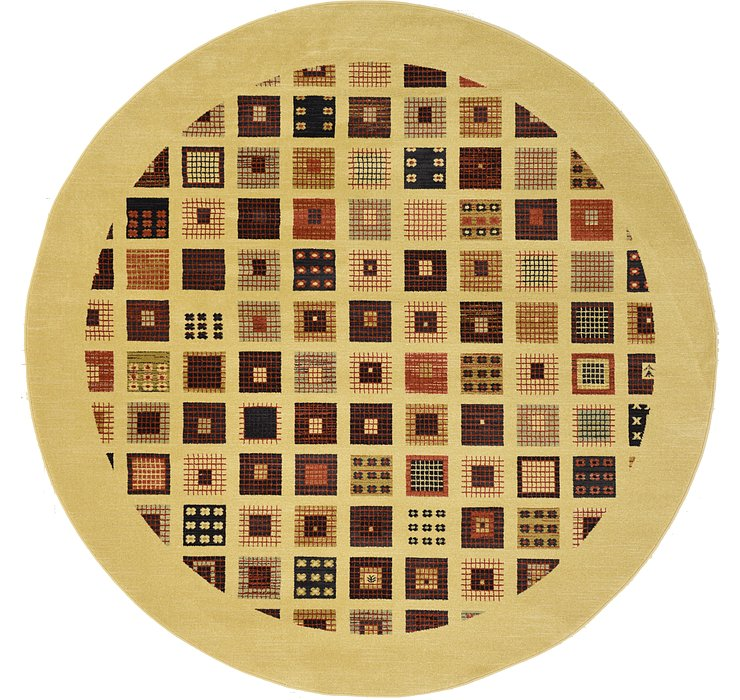 8' x 8' Kashkuli Gabbeh Round Rug