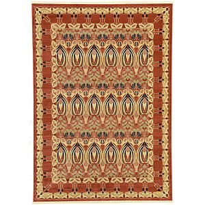 7×10 Orange Kensington  Rugs
