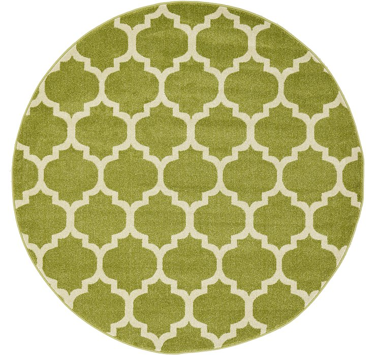 Light Green Lattice Round Rug