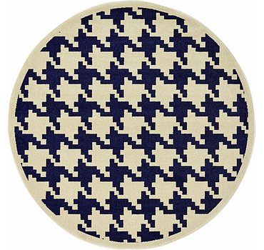 185x185 Houndstooth Rug
