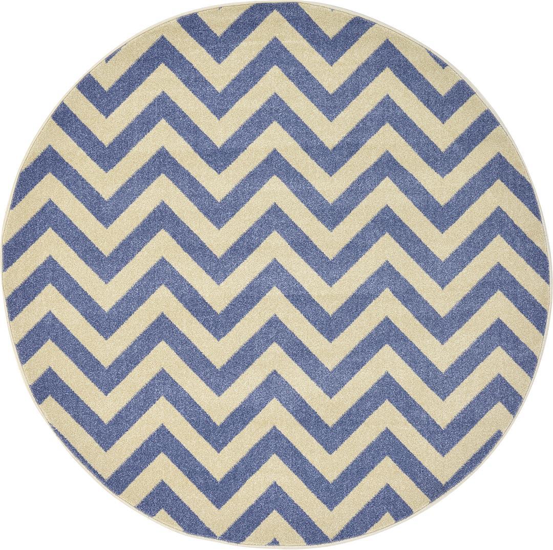blue ' x ' chevron round rug  area rugs  esalerugs - ' x ' chevron round rug