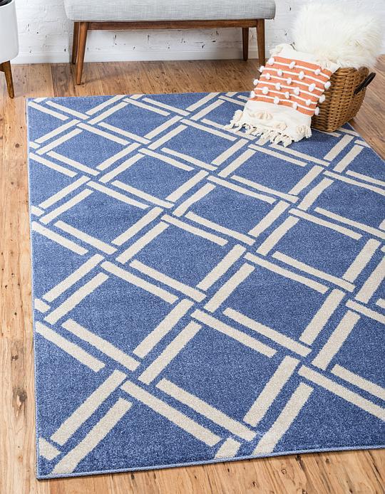blue 5 x 8 trellis rug area rugs irugs uk