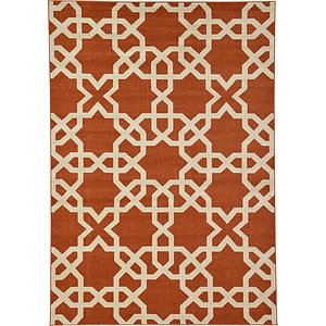 7x10 Red Trellis  Rugs!