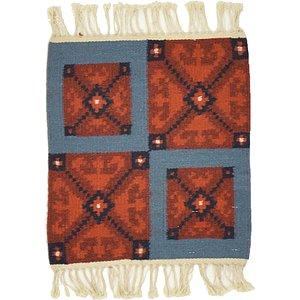 Unique Loom 1' 3 x 1' 5 Kilim Dhurrie Square Rug