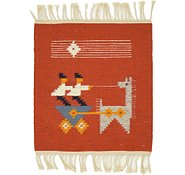 Link to 1' 3 x 1' 6 Kilim Dhurrie Square Rug