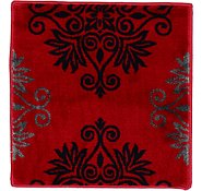 Link to 1' 8 x 1' 8 Damask Square Rug