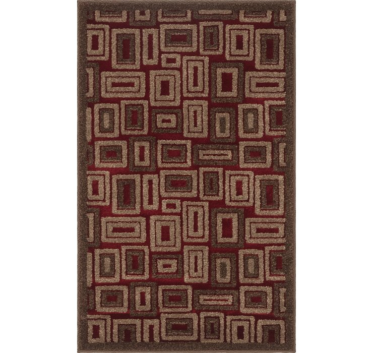 2' 6 x 4' Reproduction Gabbeh Rug