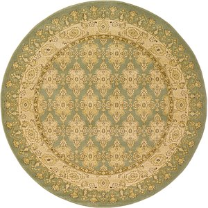 All Rounds Green Kensington  Rugs